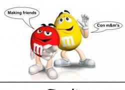 Enlace a Making friends con m&m's