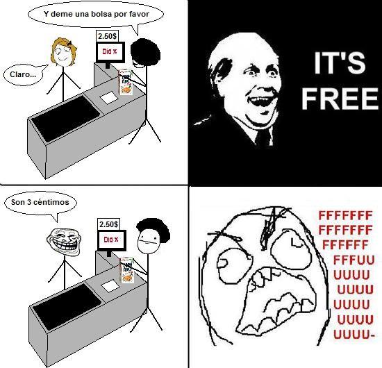Ffffuuuuuuuuuu - Bolsas gratis en el super