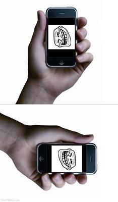 Trollface - Problem, iPhone?
