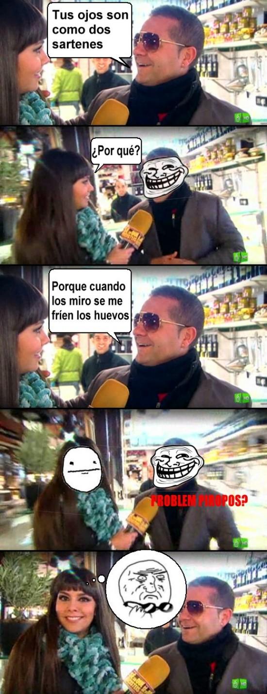 Trollface - Piropos a Cristina