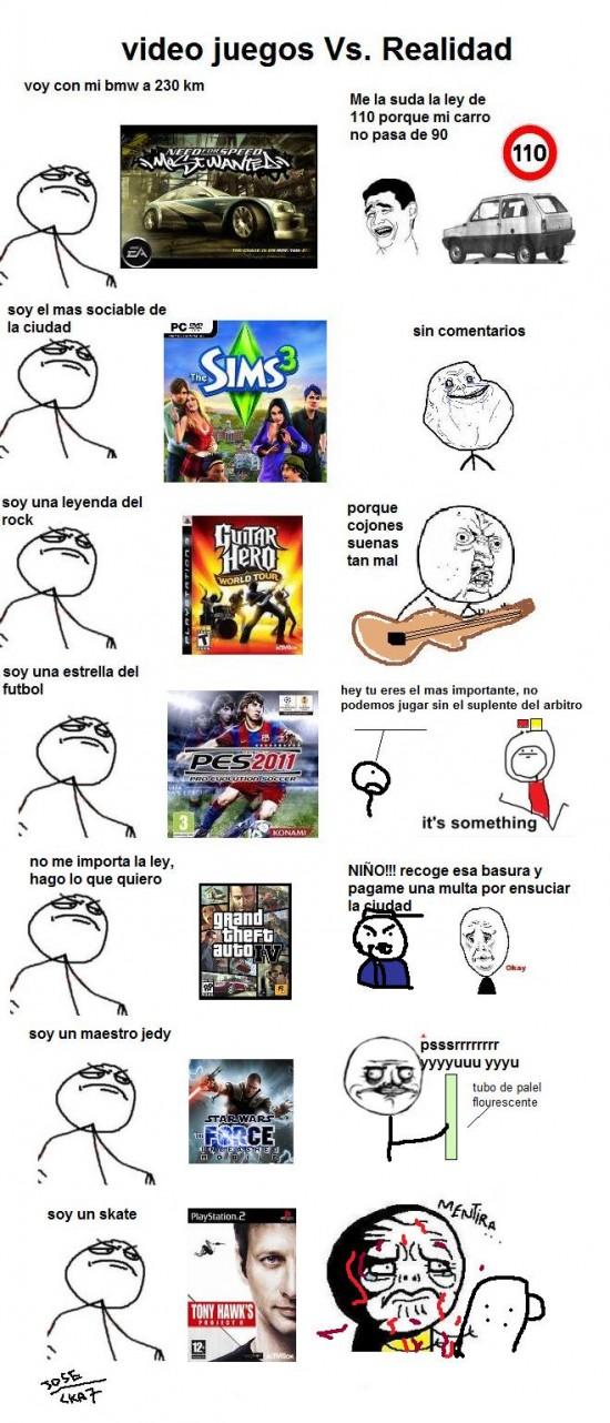 Mix - Videojuegos vs. realidad