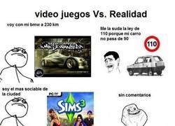 Enlace a Videojuegos vs. realidad