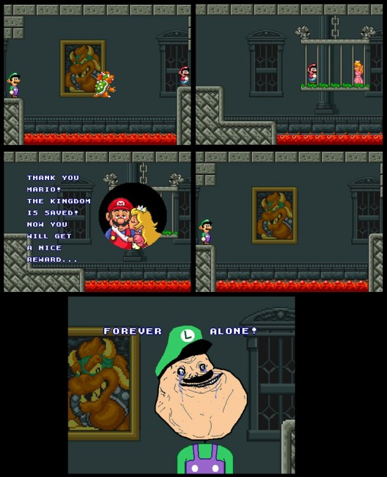Forever_alone - Final de Mario Bros