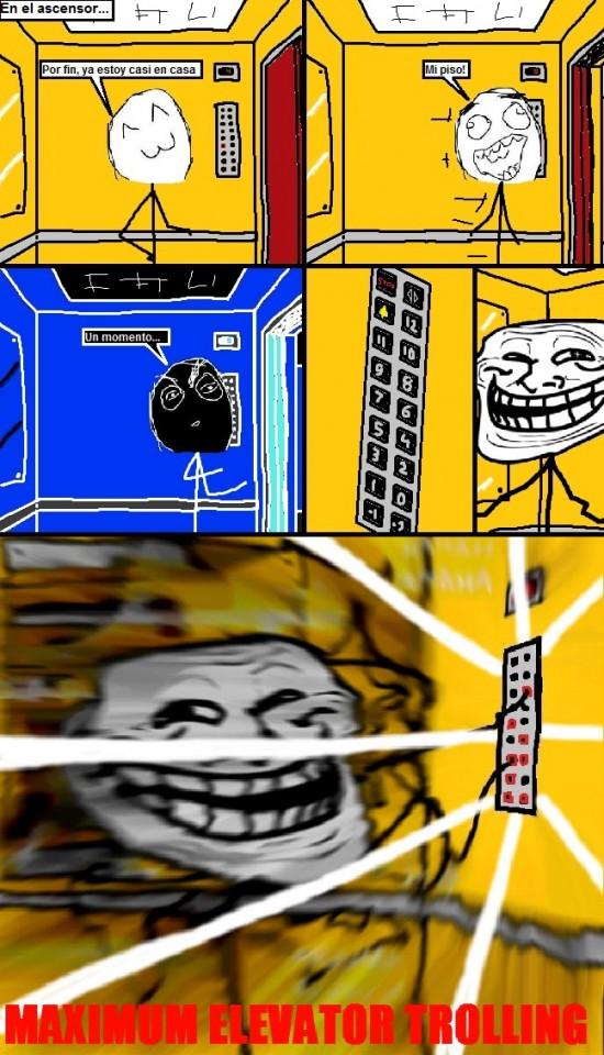 Trollface - Maximum elevator trolling