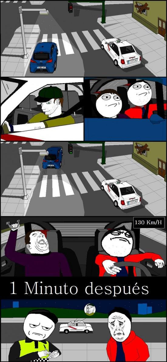 Okay - Picándose con un taxista en el semáforo