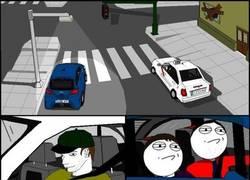 Enlace a Picándose con un taxista en el semáforo