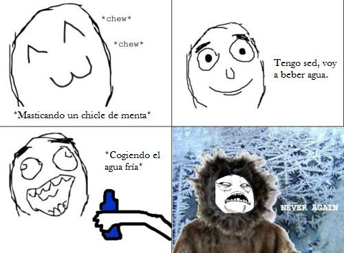 Ffffuuuuuuuuuu - Agua fría + chicle de menta