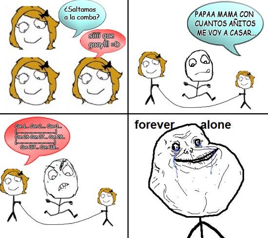 Forever_alone - Un día jugando a la comba