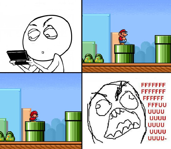 Ffffuuuuuuuuuu - Jugando a Super Mario Bros