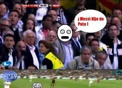 Enlace a Messi trolleando en el bernabeu