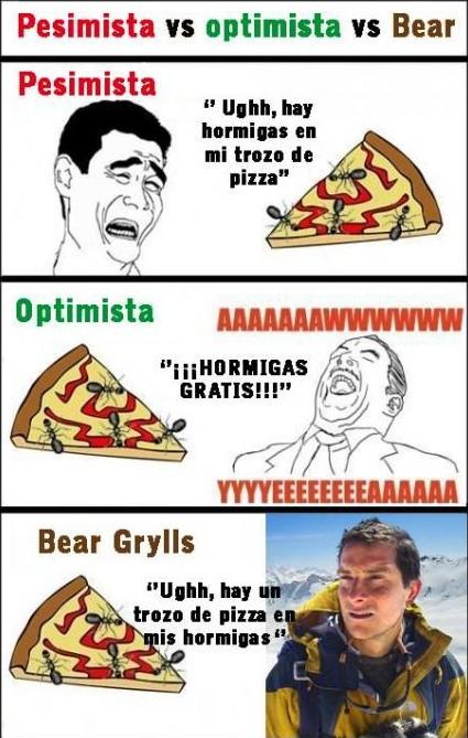 bear grylls,hormigas,mix,pizza