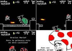 Enlace a Super Mario salva setas