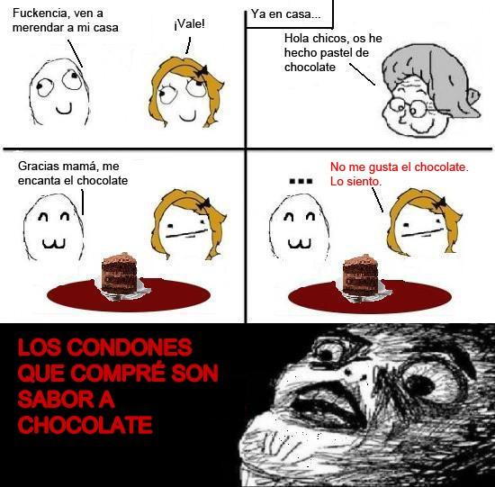 Inglip - Condones de chocolate