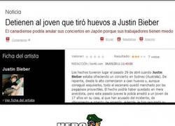 Enlace a Huevos a Justin Bieber