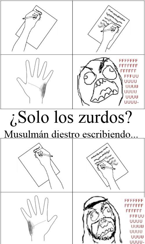 Ffffuuuuuuuuuu - Problema de zurdos musulmanes