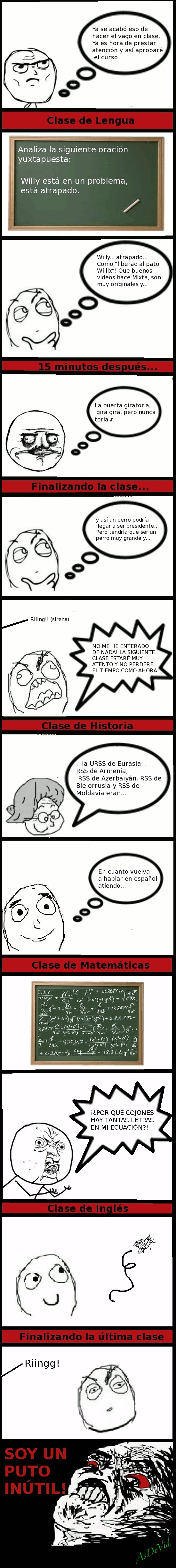 atender,clases,imposible,inútil