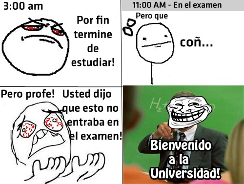 Trollface - Bienvenido a la Universidad