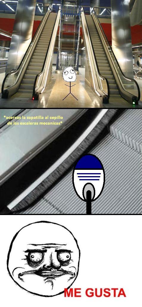 Me_gusta - Cepillo de las escaleras mecánicas