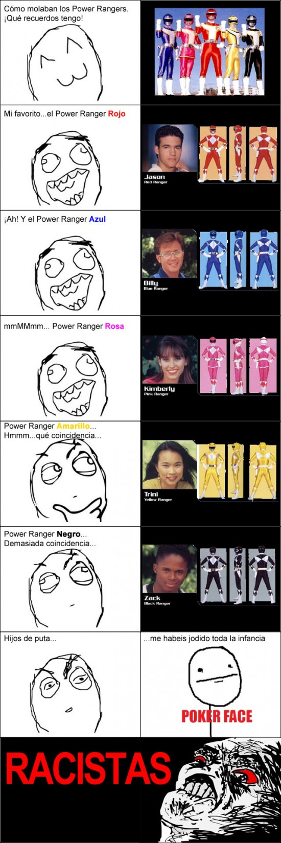 Inglip - Los colores de los Power Rangers