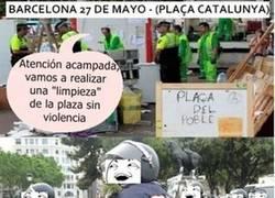 Enlace a Desalojamiento acampada Barcelona