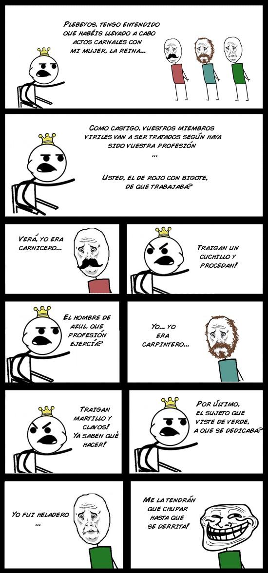 Trollface - Castigos del rey