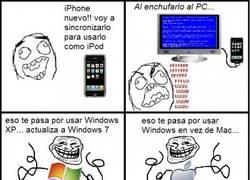 Enlace a iPhone + XP = pantallazo azul