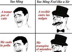 Enlace a Yao vs.Sir Yao