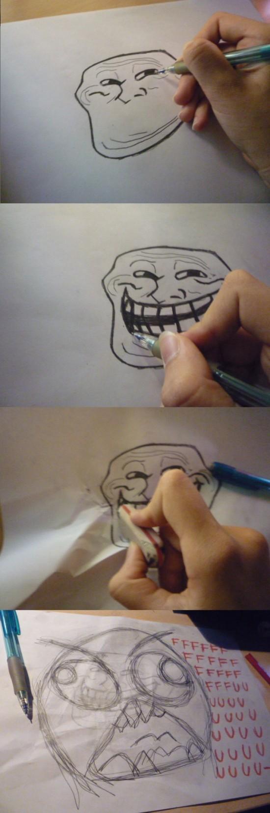 Trollface - Dibujo troll