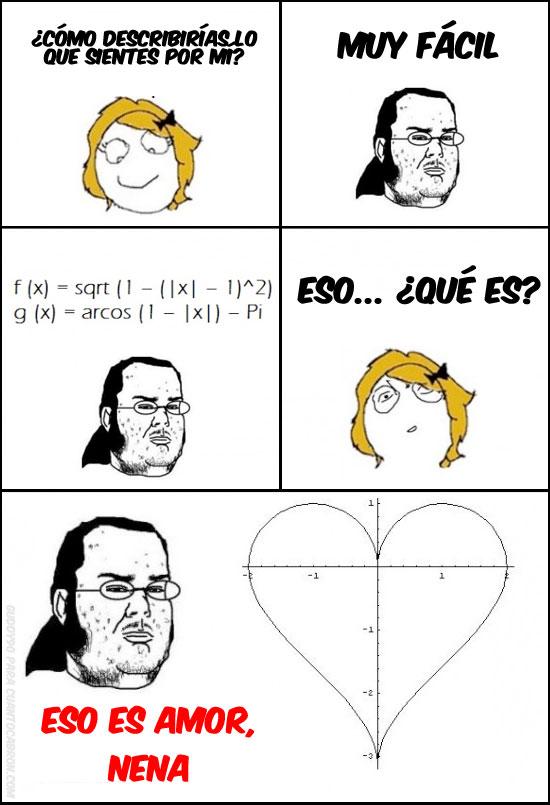 amor,corazón,friki,gordo granudo,matemáticas