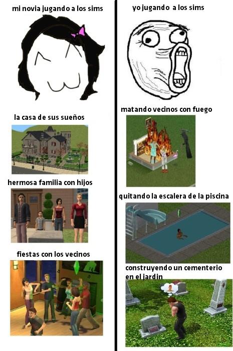 Lol - Jugando a los Sims