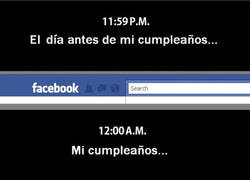 Enlace a Facebook por cumpleaños