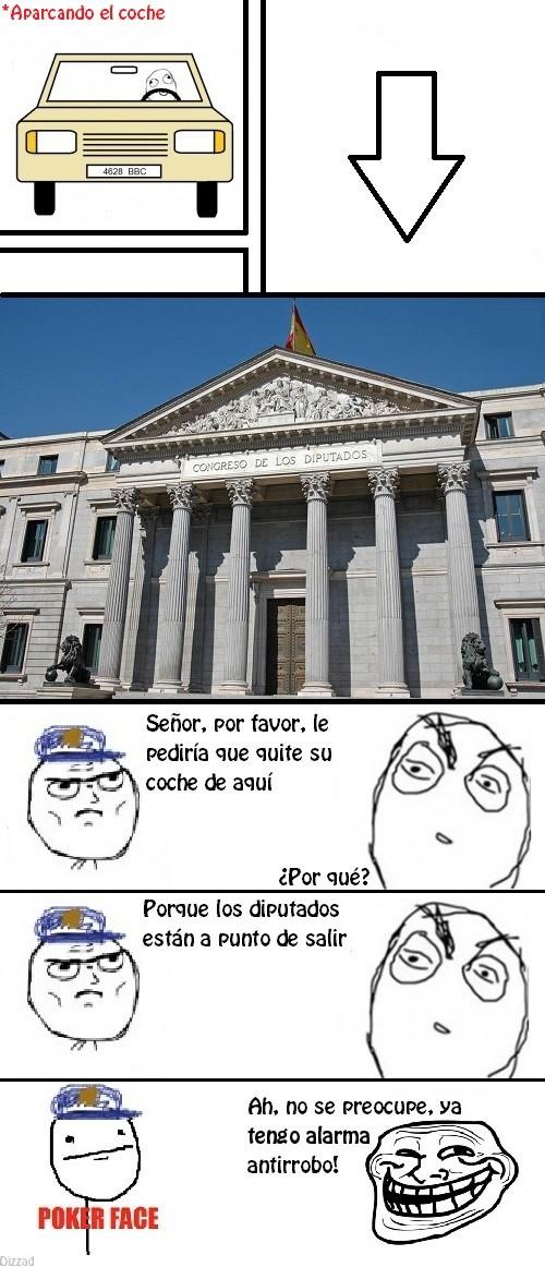 Trollface - Congreso de los diputados