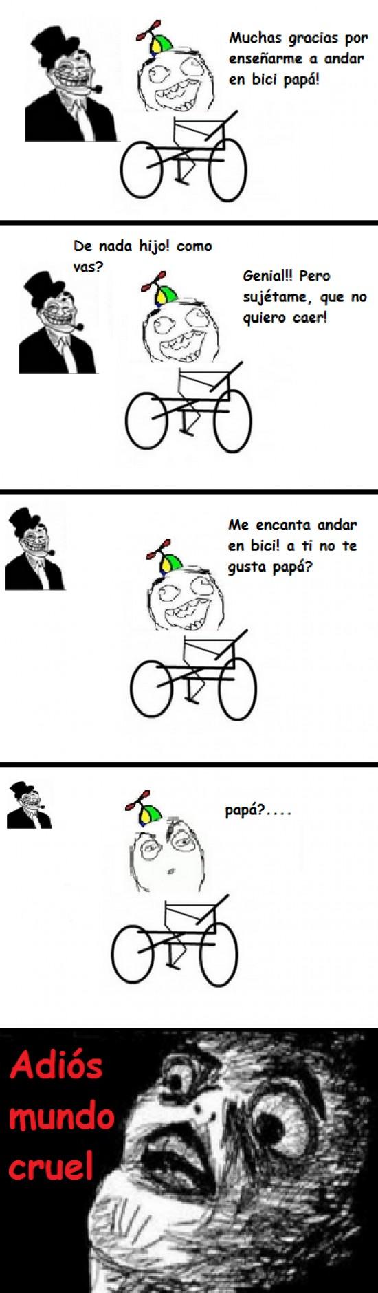 bici,niño,trolldad