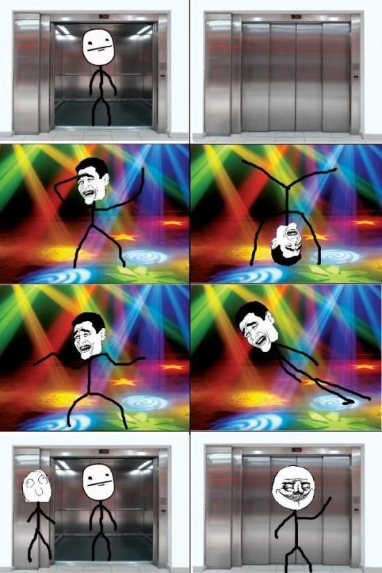 ascensor,baile,Fiebre del Sábado noche,Me gusta,Yao Ming