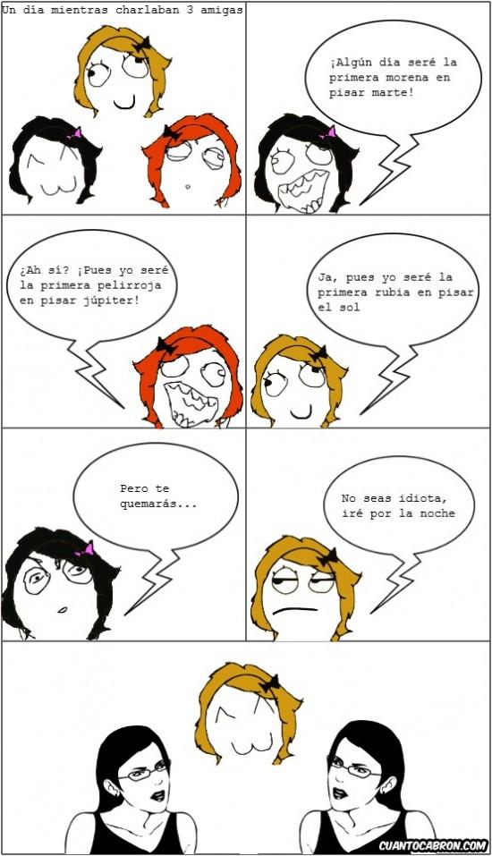 Chica,estúpida,rubia