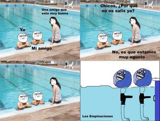 Menti - En la piscina