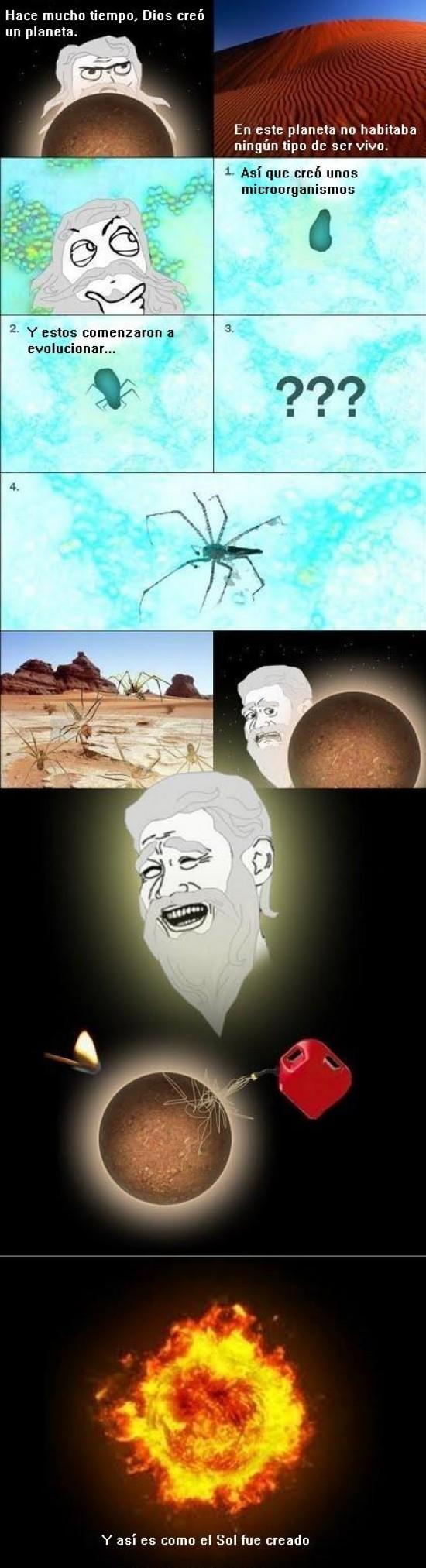 araña,Dios,planeta,Sol