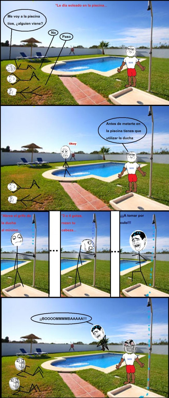 Yao - La temida ducha de la piscina