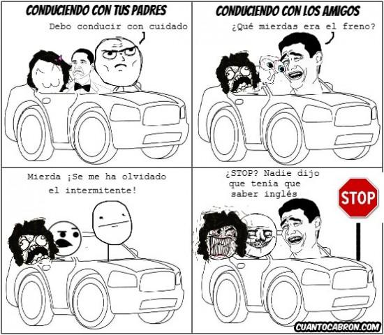 amigos,Conducir,padres