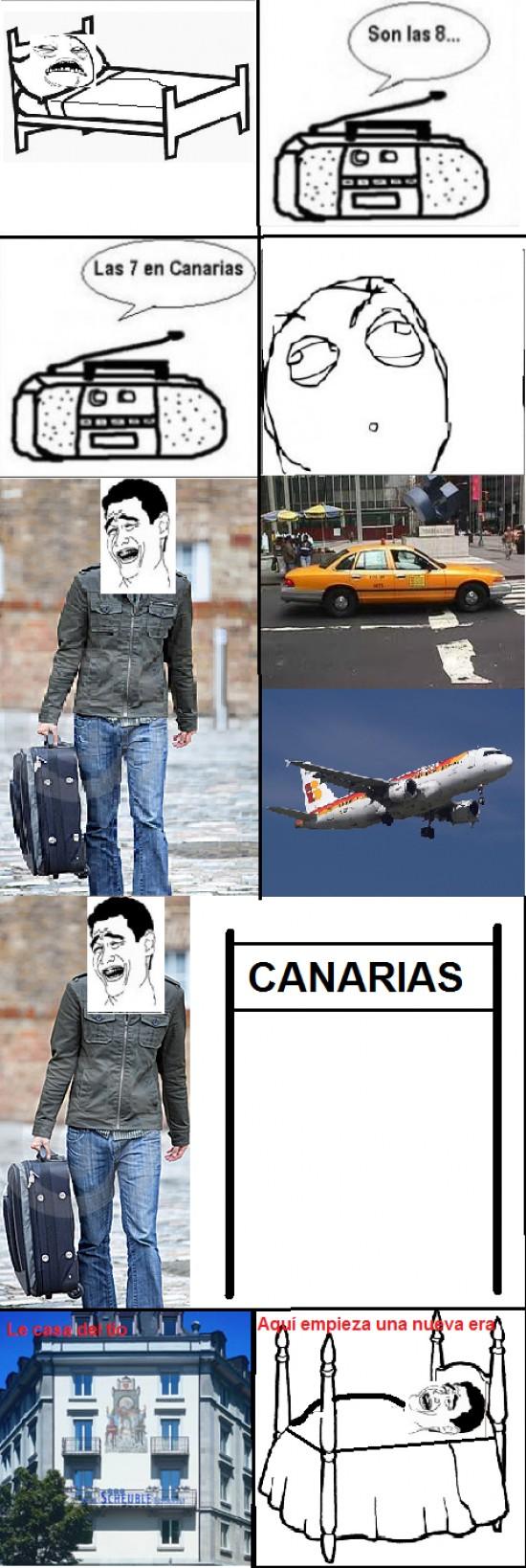 Yao - Hora menos en Canarias