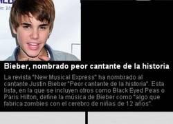 Enlace a Justin Bieber peor cantante de la historia.