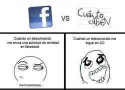 Enlace a Facebook vs CC