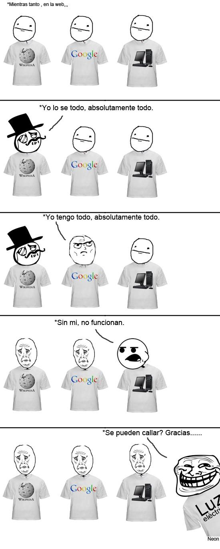 Trollface - Se pueden callar, ¿por favor?