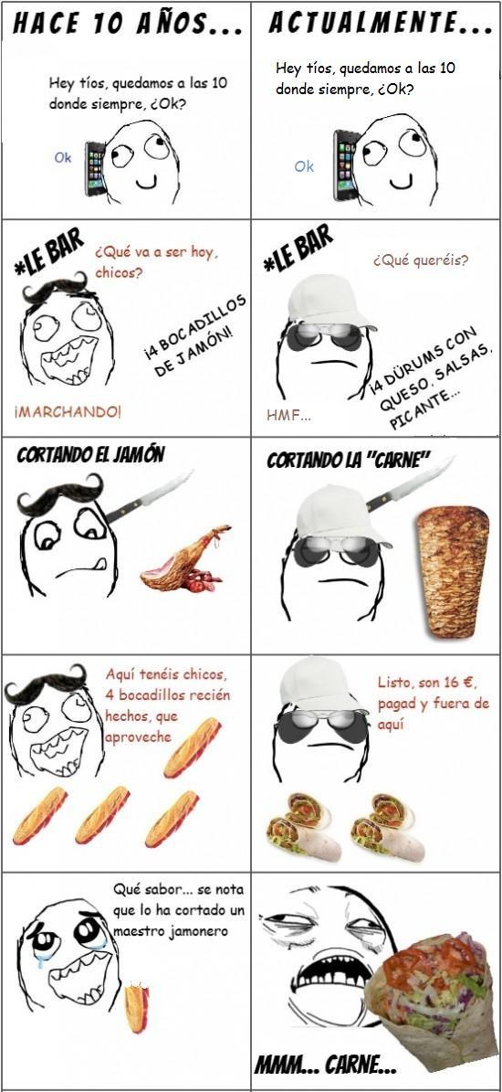 Bocadillo,Diferencia,Dürum,Jamón,Kebab