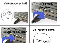 Enlace a Metiendo el USB