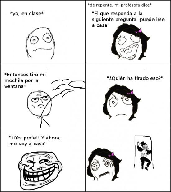 Trollface - Trolleando a la profesora