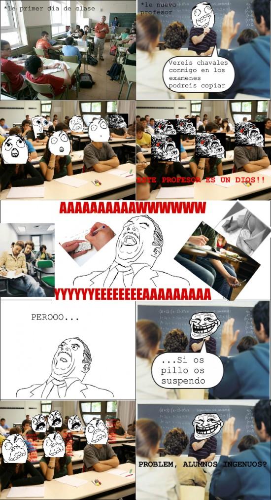chuleta,clase,copiar,examen,ffuuu,profesor,rage guy,troll,troll face
