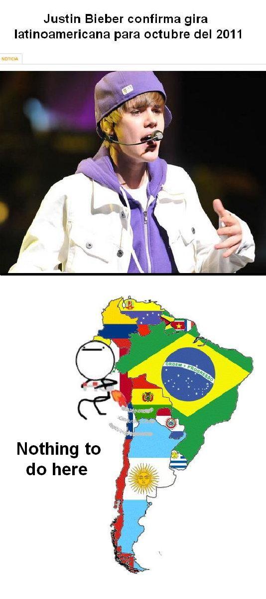 Nothing_to_do_here - Justin Bieber visitia América del Sur