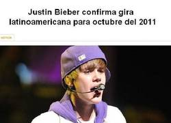 Enlace a Justin Bieber visitia América del Sur