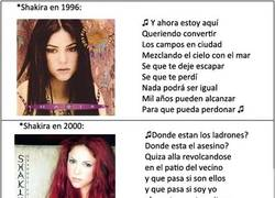 Enlace a Shakira evolution